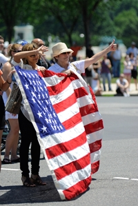 Veterans were cheered on at recent parades in Texas and Kentucky.